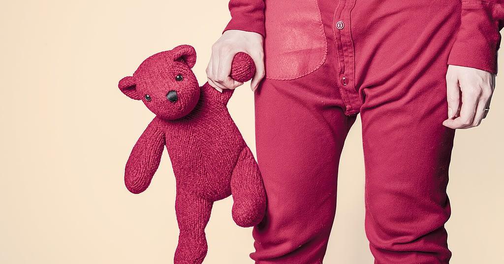 teddy bear going to sleep