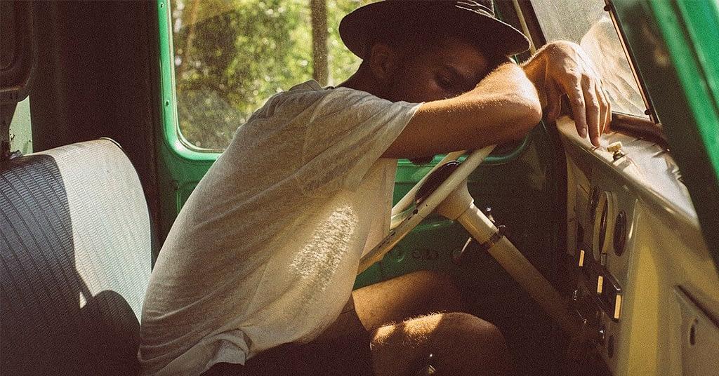 quick nap in the van