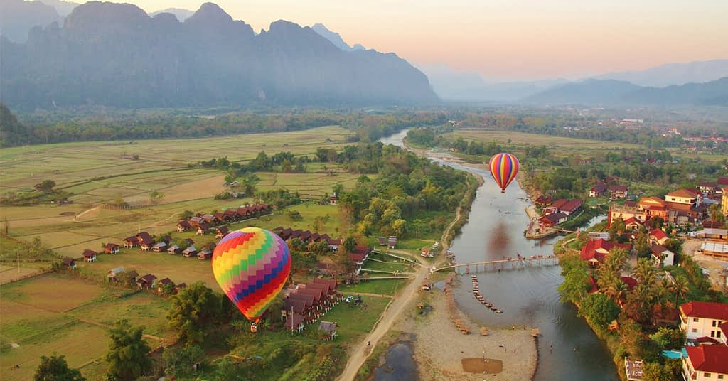 مدينة فان فيانغ في لاوس